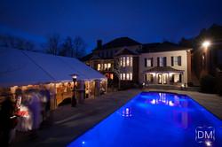 Backyard Wedding Tent & Pool