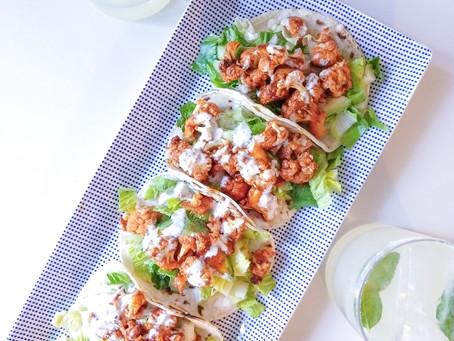 Bangin' Buffalo Cauliflower Tacos