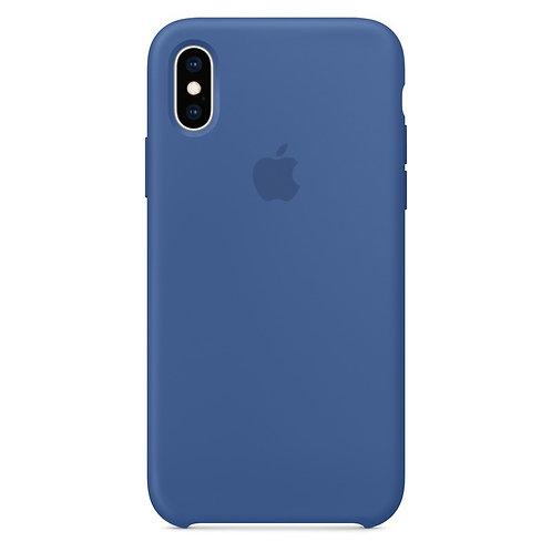 Силиконовый чехол для iPhone X/Xs Max Голубой