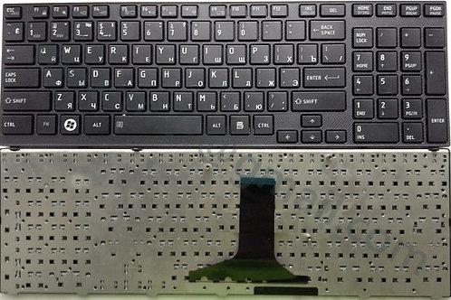 Клавиатура для ноутбука Toshiba A660, A665, X770 черная с черной рамкой