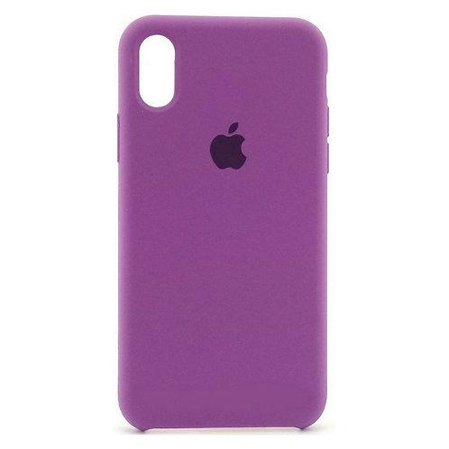 Силиконовый чехол для iPhone X/Xs Max Фиолетовый