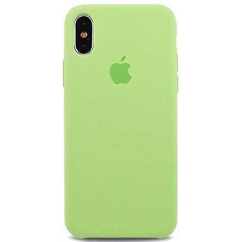 Силиконовый чехол для iPhone X/Xs Светло-зеленый