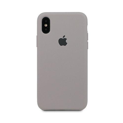 Силиконовый чехол для iPhone X/Xs Max Серо-фиолетовый
