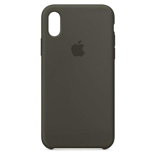 Силиконовый чехол для iPhone X/Xs Серый
