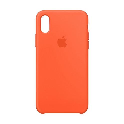 Силиконовый чехол для iPhone X/Xs Оранжевый