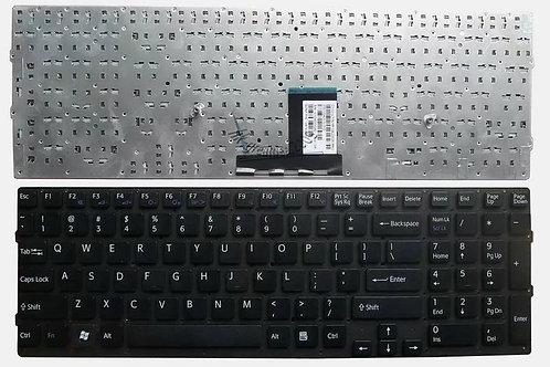 Клавиатура для ноутбука Sony VPC-EC черная без рамки