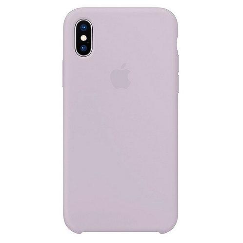 Силиконовый чехол для iPhone X/Xs Светло-фиолетовый