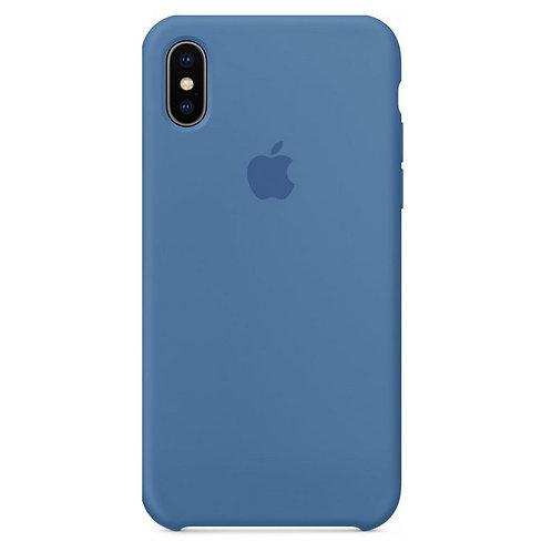 Силиконовый чехол для iPhone X/Xs Светло синий