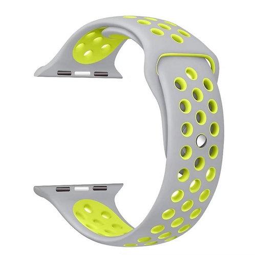 Силиконовый ремешок для Aple Watch 42/44MM серый
