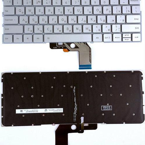 Клавиатура для ноутбука Xiaomi Air 13.3 серебристая с подсветкой