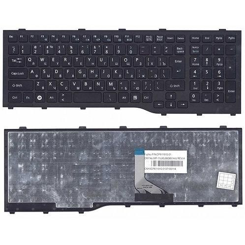 Клавиатура для ноутбука Fujitsu Lifebook AH532, NH532 черная с рамкой