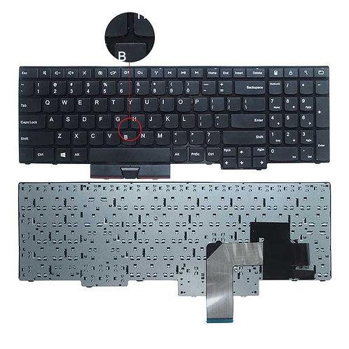 Клавиатура для ноутбука Lenovo Edge E530, E535 черная с рамкой без стика
