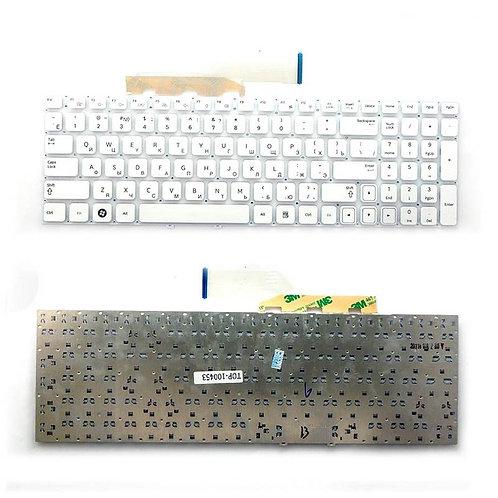 Клавиатура для ноутбука Samsung NP300E5A, NP300V5A, NP305V5A белая без рамки
