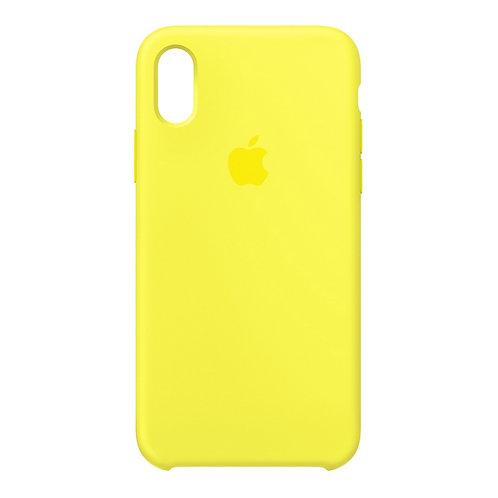 Силиконовый чехол для iPhone X/Xs Max Желтый