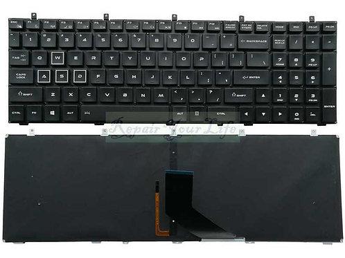 Клавиатура для ноутбука DNS Thunderobot 911 черная с подсветкой, без рамки