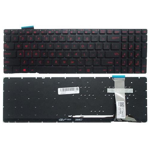 Клавиатура для ноутбука Asus G771, N551, GL552VW черная с подсветкой