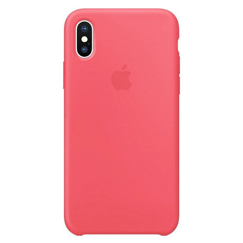 Силиконовый чехол для iPhone X/Xs Розовый
