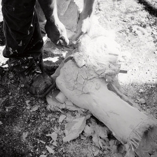 Création et fabrication des mains du Géant Lou Depryck