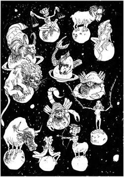 planche de signes astrologiques