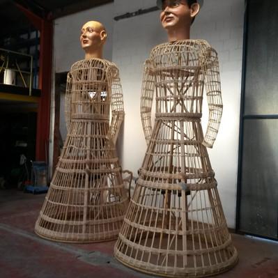 Refabrication des Géants Madame et Monsieur Bon Air