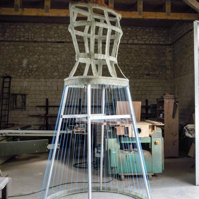 Refabrication du Géant Childéric de Tournai