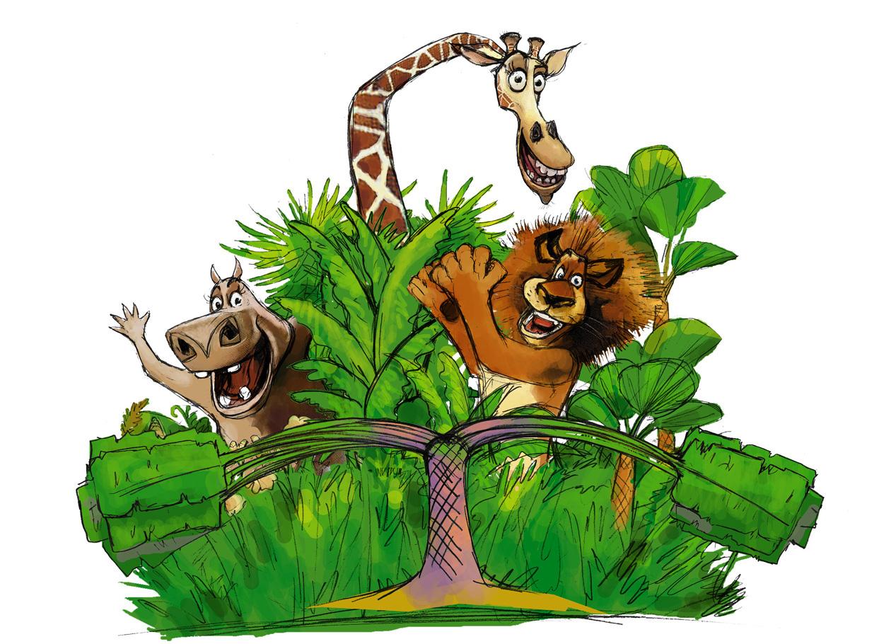animaux et paravent