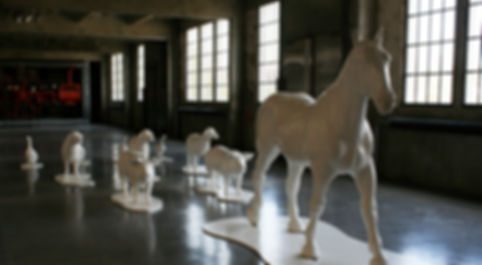 sculpture cheval polyester