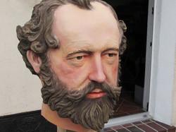 tête de géant : Adolphe Sax
