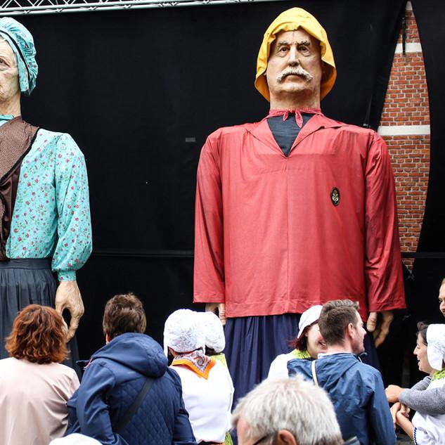 inauguration des Géant pécheur de Knokke Heist wanne