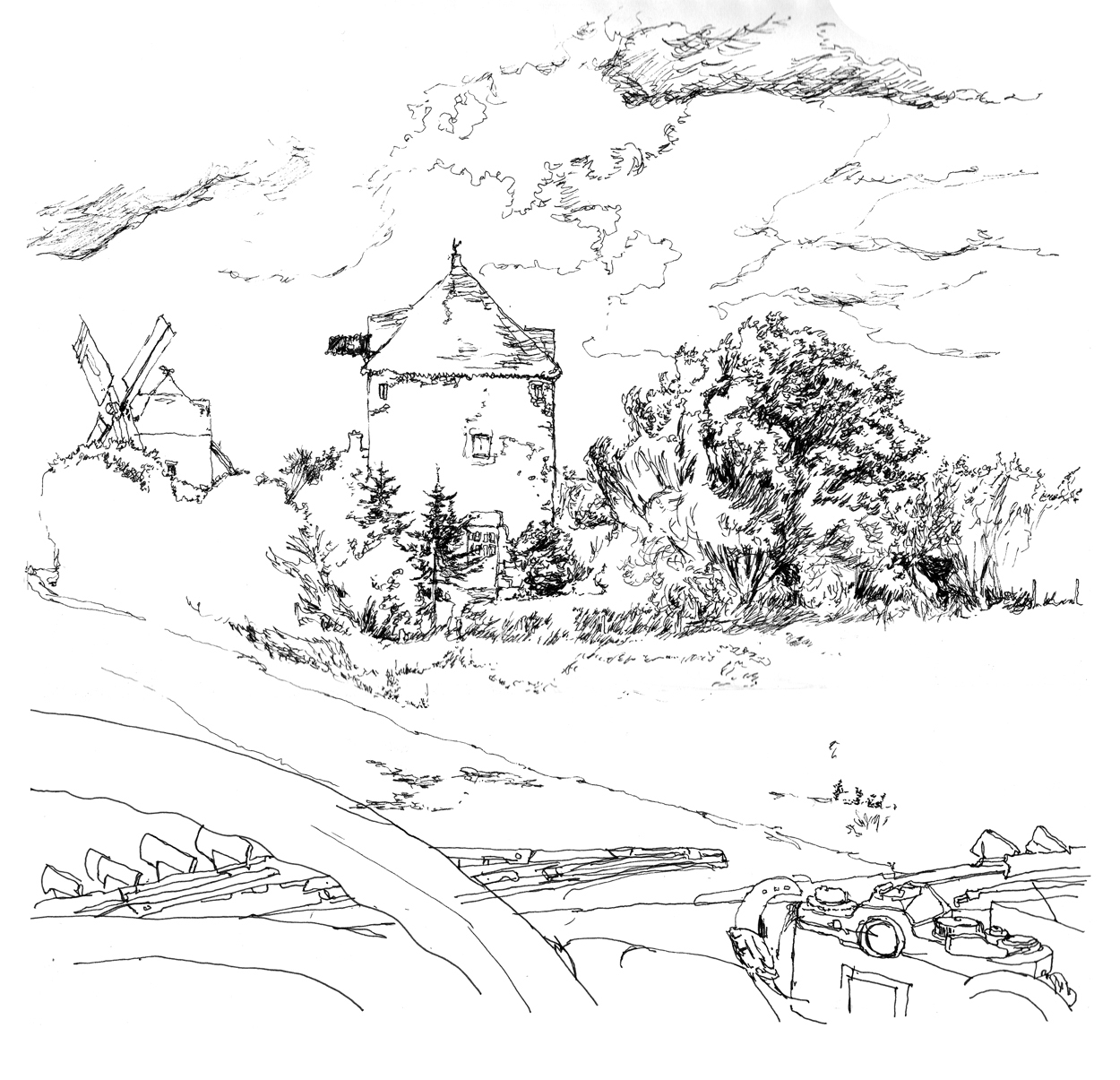 sketch mill Bretagne