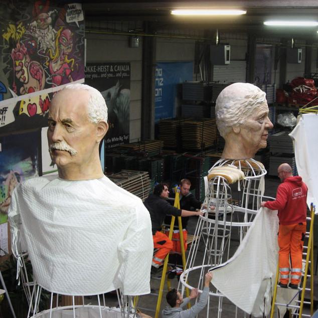 Installation des Géant Knokke Heist