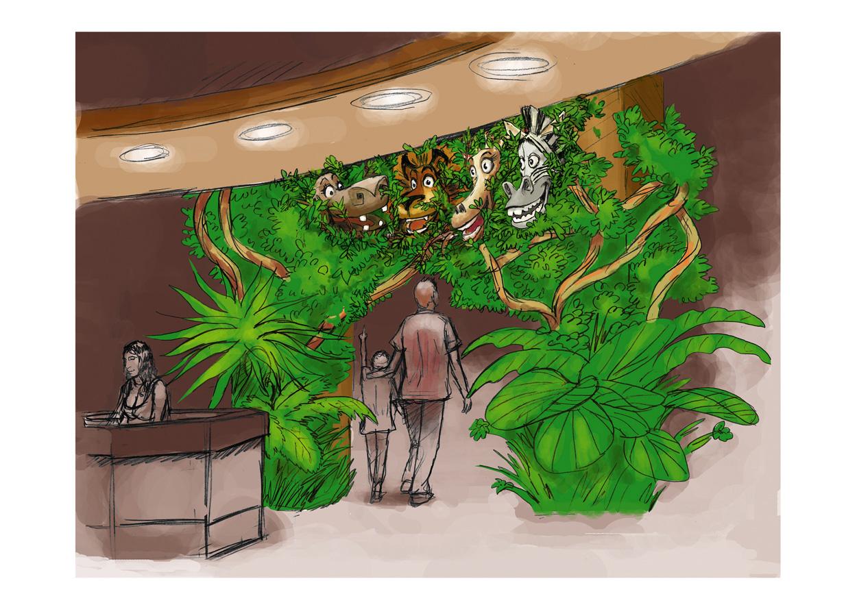 """Madagascar"" Grand Rex hall"