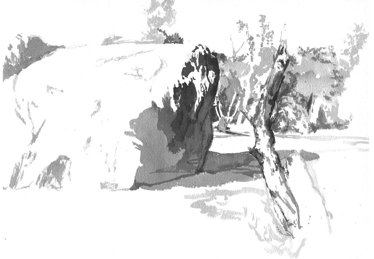 sketch Fontainebleau