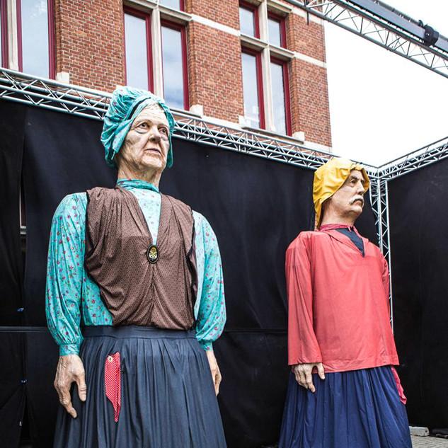 inauguration Installation des Géant Knokke Heist