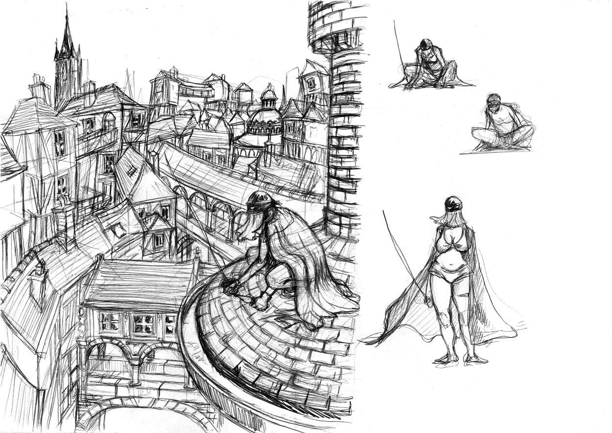 heroine sketch