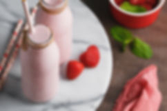 Dr Phil Sheldon's Strawberry Cheesecake Protein Smoothie