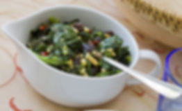 Dr Phil Sheldon's Spicy Kale & Spinach with Pine Nuts
