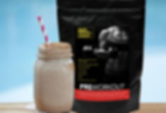 Choc Chai Pre or Post Workout Smoothie with produc
