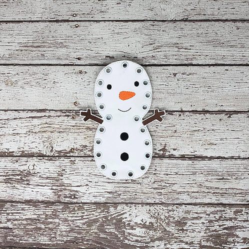 Snowman Inspired Lacing Card --- Quite Book Learning Game