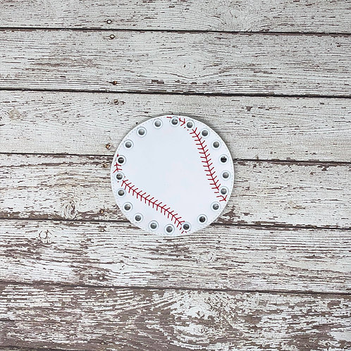 Baseball Inspired Lacing Card --- Quite Book Learning Game