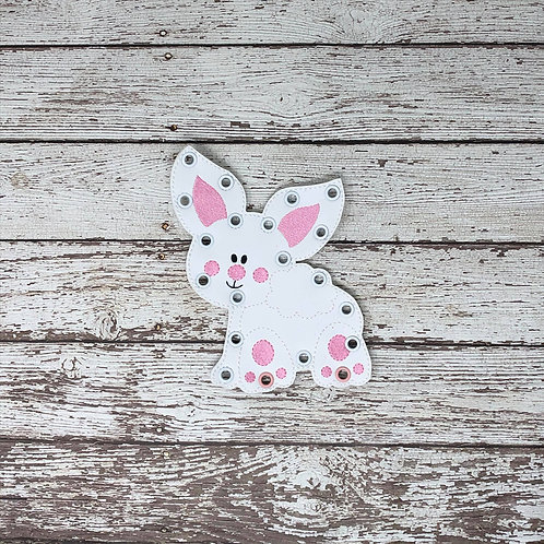 Cute Bunny Butt Inspired Lacing Card --- Quite Book Learning Game