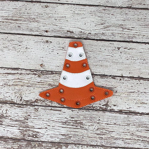 Traffic Cone Inspired Lacing Card --- Quite Book Learning Game