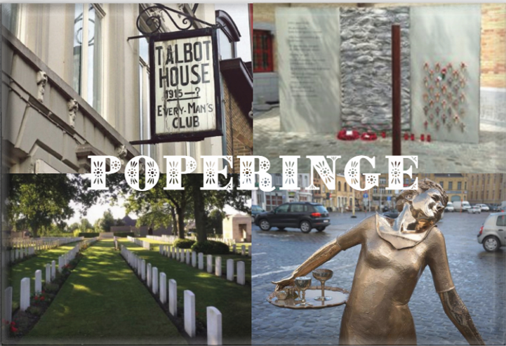 Poperinge tourist sitesincluding cemeteries, monuments, execution post, Talbot House or Toc H