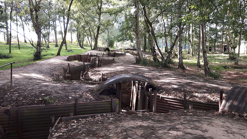 World War 1 Trenches Ypres Salient at Sanctuary Wood Hill 62 Museum
