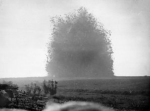Mine Explosion from World War One