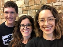 Past board members Nick Goodwin, Rachel Kaplan, Kristine Reaume, 2018