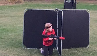 Flat panel style laser tag bunkers