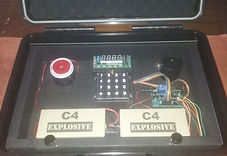 suitcase bomb prop for laser tag games