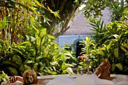 beautiful garden bathroom at Villa Nilaya Bali Near Candi Dasa