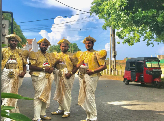 It's a wedding party in Galle Fort!